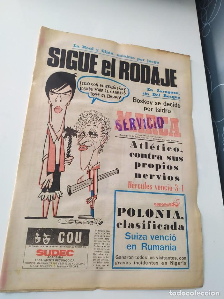 DIARIO MARCA 11 DE OCTUBRE DE 1981. (Coleccionismo Deportivo - Revistas y Periódicos - Marca)