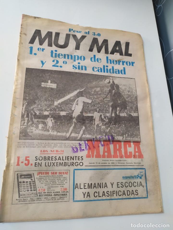DIARIO MARCA 15 DE OCTUBRE DE 1981. (Coleccionismo Deportivo - Revistas y Periódicos - Marca)