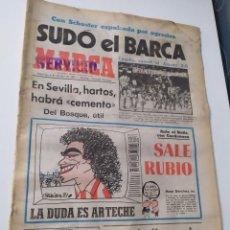 Coleccionismo deportivo: DIARIO MARCA 4 DE OCTUBRE DE 1981.. Lote 218917115