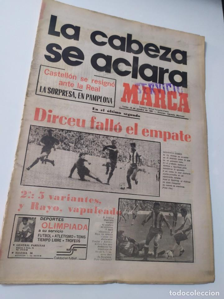 DIARIO MARCA 19 DE OCTUBRE DE 1981. (Coleccionismo Deportivo - Revistas y Periódicos - Marca)