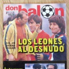 Coleccionismo deportivo: DB REVISTA DON BALON Nº 232 DEL 18 AL 24 MARZO 1980 CURIOSO POSTER ATHETIC BILBAO HELENIO HERRERA. Lote 218991186