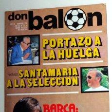 Colecionismo desportivo: REVISTA DON BALON DB Nº150 AÑO 1978 FÚTBOL VINTAGE. CRUYFF FC BARCELONA - PÓSTER SEVILLA FC. Lote 219076731