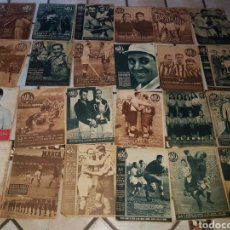 Collectionnisme sportif: LOTE 24 PERIODICOS DEPORTIVO, MARCA, FUTBOL, ANTIGUOS, AÑOS 40. Lote 219174527