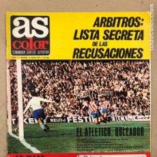 Coleccionismo deportivo: AS COLOR N° 4 (1971). INCLUYE POSTER VALENCIA C.F., DI STEFANO, ATLÉTICO, LE MANS, CICLISMO,... Lote 219224921