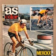 Coleccionismo deportivo: AS COLOR N° 9 (1971). INCLUYE POSTER LUIS OCAÑA, IRIBAR, PELÉ, GARRINCHA, TOUR FRANCIA '71,.... Lote 219226061