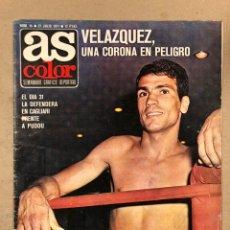 Coleccionismo deportivo: AS COLOR N° 10 (1971). INCLUYE POSTER DEPORTIVO LA CORUÑA, KUBALA, RIAL, OCAÑA, ÁNGEL NIETO. Lote 219226425