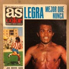 Coleccionismo deportivo: AS COLOR N° 13 (1971). INCLUYE POSTER REAL SOCIEDAD, LEGEÁ, URTAIN, JOSÉ GINES, CALLEJA, CLAUDIA CAR. Lote 219227222