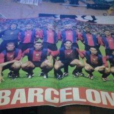 Coleccionismo deportivo: ANTIGUO PÓSTER 2 PÁGINAS BARÇA 1999-2000 BARCELONA EQUIPO LIGA FÚTBOL 99-00 REVISTA DON BALÓN. Lote 219231293