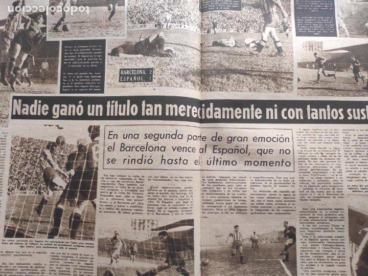 Coleccionismo deportivo: VIDA DEPORTIVA FC BARCELONA CAMPEON LIGA 1948 1949 - BARÇA TEMPORADA 48 49 - Foto 3 - 219264476