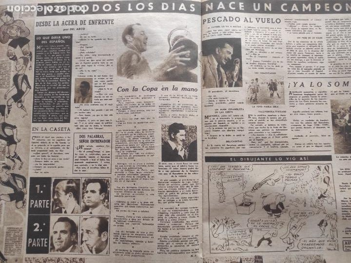 Coleccionismo deportivo: VIDA DEPORTIVA FC BARCELONA CAMPEON LIGA 1948 1949 - BARÇA TEMPORADA 48 49 - Foto 4 - 219264476