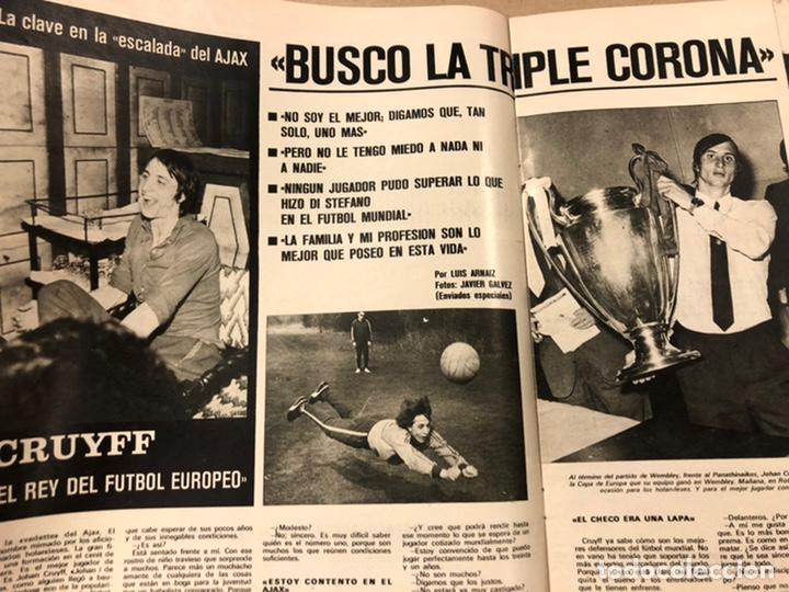 Coleccionismo deportivo: AS COLOR N° 54 (1972). INCLUYE POSTER SELECCIÓN ESPAÑOLA, CRUYFF, URTAIN, ÁNGEL NIETO - Foto 7 - 219294943