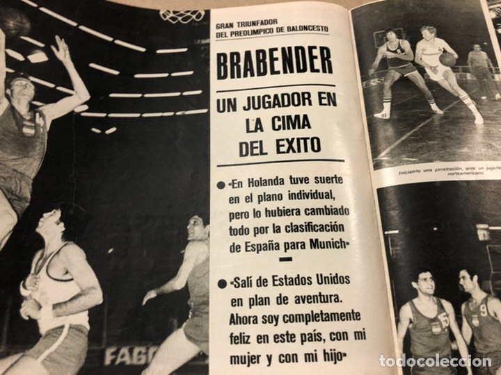 Coleccionismo deportivo: AS COLOR N° 54 (1972). INCLUYE POSTER SELECCIÓN ESPAÑOLA, CRUYFF, URTAIN, ÁNGEL NIETO - Foto 10 - 219294943