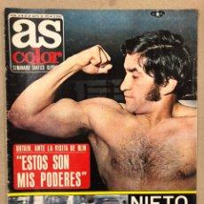 Coleccionismo deportivo: AS COLOR N° 54 (1972). INCLUYE POSTER SELECCIÓN ESPAÑOLA, CRUYFF, URTAIN, ÁNGEL NIETO. Lote 219294943