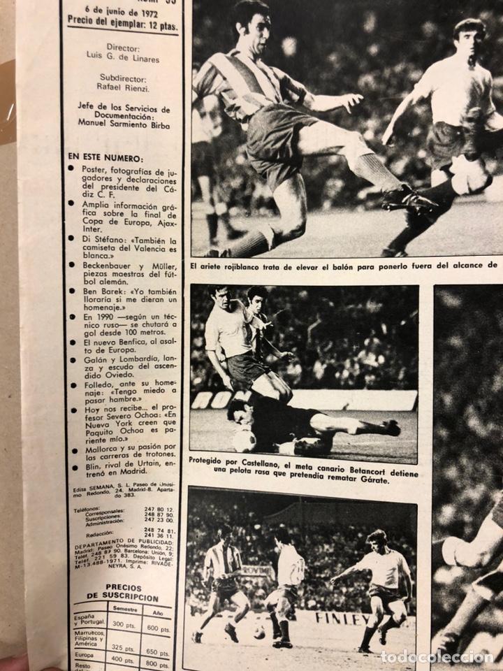 Coleccionismo deportivo: AS COLOR N° 55 (1972). INCLUYE POSTER CÁDIZ C.F., GARATE, DI STEFANO, BEN BAREK, URTAIN, FOLLEDO - Foto 2 - 219295746
