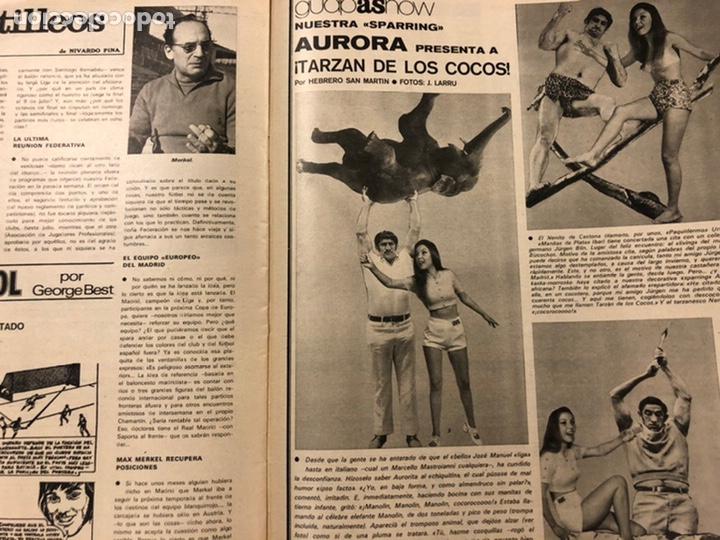 Coleccionismo deportivo: AS COLOR N° 55 (1972). INCLUYE POSTER CÁDIZ C.F., GARATE, DI STEFANO, BEN BAREK, URTAIN, FOLLEDO - Foto 9 - 219295746