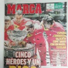 Coleccionismo deportivo: MARCA: ESPAÑA GANA SU SEXTA COPA DAVIS. Lote 220137575
