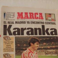 Coleccionismo deportivo: MARCA AGOSTO 1997 EL REAL MADRID YA ENCONTRÓ CENTRAL KARANKA. Lote 220297088