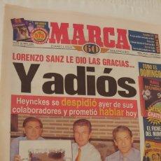 Coleccionismo deportivo: MARCA 1998 LORENZO SANZ LE DIO LAS GRACIAS Y ADIÓS. Lote 220297296
