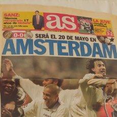 Coleccionismo deportivo: AS ABRIL 1998, SERÁ EL 20 DE MAYO EN AMSTERDAM. Lote 220297997