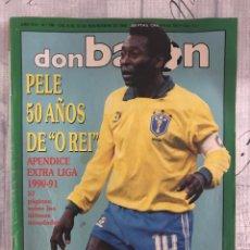 Coleccionismo deportivo: FÚTBOL DON BALÓN 785 - PELÉ - APÉNDICE EXTRA LIGA 90/91 - KOEMAN - LOGROÑÉS - AS MARCA ALBUM CROMO. Lote 220587593