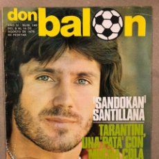 Collectionnisme sportif: DON BALÓN 148 (1978). SANTILLANA, TARANTINI, SOLSONA, KEMPES, STIELIKE, BONHOF, PELE,... Lote 220590426