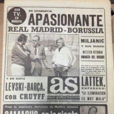 Collectionnisme sportif: AS (17-3-1976) HOY REAL MADRID BORUSSIA MÖNCHENGLADBACH LEVSKI SPARTAK BARCELONA JOSE LUIS ISPIZUA. Lote 220599185