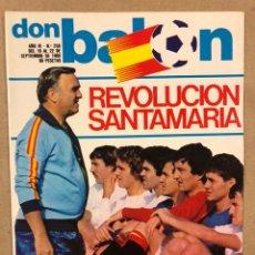 Collectionnisme sportif: DON BALÓN N° 258 (1980). SELECCIÓN DE SANTAMARÍA, SIMONSEN, JOHAN CRUYFF, GARRINCHA,.... Lote 220606127