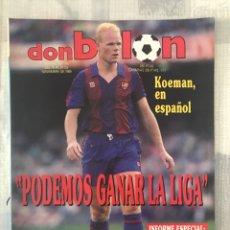 Coleccionismo deportivo: FÚTBOL DON BALÓN 735 - POSTER URBAN - KOEMAN - RAYO - OVIEDO - BARÇA - MILÁN - BUSTINGORRI. Lote 220631700