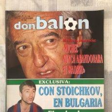 Coleccionismo deportivo: FÚTBOL DON BALÓN 738 - POSTER PLATINI - MADRID - VALENCIA - STOICHKOV - BARÇA - ITALIA 90 - QUIQUE S. Lote 220638567