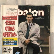Coleccionismo deportivo: FÚTBOL DON BALÓN 739 - POSTER ANDRINUA - M. VÁZQUEZ - SUPERCOPA EUROPA MILÁN - ITALIA 90 MARADONA. Lote 220641961