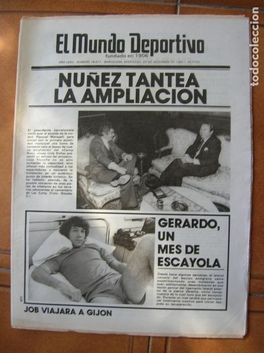 DIARIO DEPORTIVO (Coleccionismo Deportivo - Revistas y Periódicos - Mundo Deportivo)