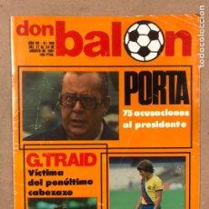 Coleccionismo deportivo: DON BALÓN N° 306 (1981). POSTER CASTELLÓN 81/82, ATHLETIC CLUB BILBAO VS REAL SOCIEDAD, VICTOR. Lote 220754696