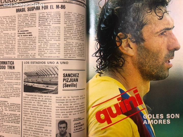 Coleccionismo deportivo: DON BALÓN N° 311 (1981). CUNNINGHAM, IDIGORAS, QUINI, SELECCIÓN ESPAÑOLA JUVENIL,... - Foto 5 - 220754978