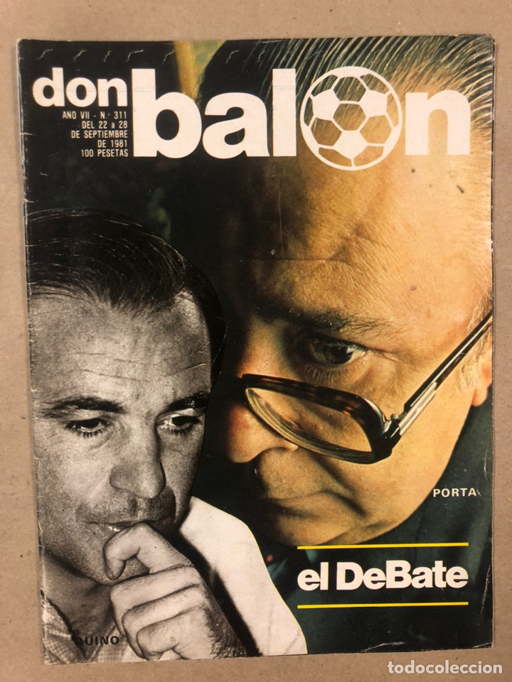 DON BALÓN N° 311 (1981). CUNNINGHAM, IDIGORAS, QUINI, SELECCIÓN ESPAÑOLA JUVENIL,... (Coleccionismo Deportivo - Revistas y Periódicos - Don Balón)