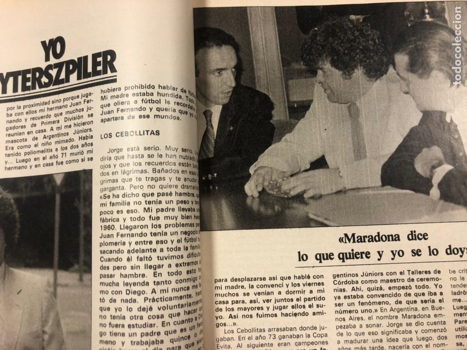 Coleccionismo deportivo: DON BALÓN N° 357 (1982). CYTERSZPILER MARADONA, EL NUEVO REAL MADRID, ADELARDO,... - Foto 3 - 220755641