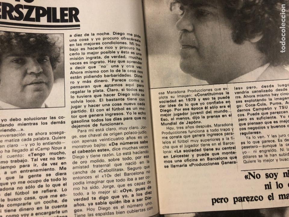 Coleccionismo deportivo: DON BALÓN N° 357 (1982). CYTERSZPILER MARADONA, EL NUEVO REAL MADRID, ADELARDO,... - Foto 4 - 220755641