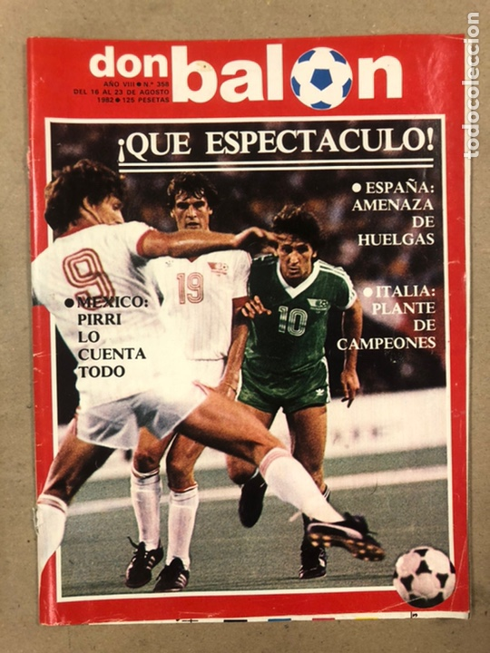 DON BALÓN N° 358 (1982). MÁLAGA,HUELGA FÚTBOL, VALDANO, PIRRI, ASENSI, PABLO ROSSI,... (Coleccionismo Deportivo - Revistas y Periódicos - Don Balón)