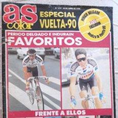 Coleccionismo deportivo: REVISTA AS COLOR ESPECIAL VUELTA CICLISTA A ESPAÑA 90 Nº 219 22/04/1990 PERICO INDURAIN MINGUEZ ETC.. Lote 220813567