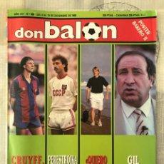 Coleccionismo deportivo: FÚTBOL DON BALÓN 686 - POSTER BAKERO - CRUYFF - MALAGA LAURIDSEN - MURCIA - BETIS - VALLADOLID. Lote 220881761