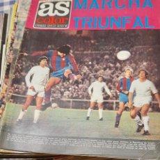 Collectionnisme sportif: FUTBOL- DEPORTES- LOTE 57 REVISTAS AS COLOR- POSTER- AÑOS 1972- 1974. Lote 220926471