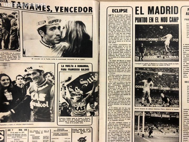 Coleccionismo deportivo: AS COLOR N° 208 (1975). BARCELONA VS REAL MADRID, FÚTBOL FEMENINO, COLLAR, MAGUREGUI, SANTI,... - Foto 2 - 220943057