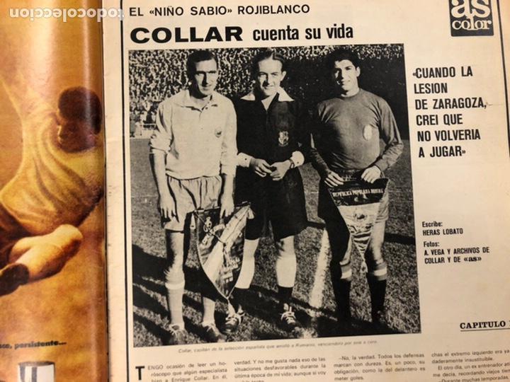 Coleccionismo deportivo: AS COLOR N° 208 (1975). BARCELONA VS REAL MADRID, FÚTBOL FEMENINO, COLLAR, MAGUREGUI, SANTI,... - Foto 4 - 220943057