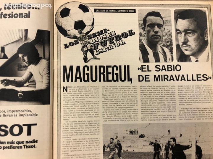 Coleccionismo deportivo: AS COLOR N° 208 (1975). BARCELONA VS REAL MADRID, FÚTBOL FEMENINO, COLLAR, MAGUREGUI, SANTI,... - Foto 5 - 220943057