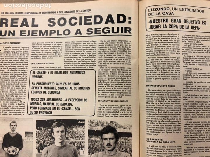 Coleccionismo deportivo: AS COLOR N° 208 (1975). BARCELONA VS REAL MADRID, FÚTBOL FEMENINO, COLLAR, MAGUREGUI, SANTI,... - Foto 10 - 220943057