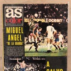 Coleccionismo deportivo: AS COLOR N° 208 (1975). BARCELONA VS REAL MADRID, FÚTBOL FEMENINO, COLLAR, MAGUREGUI, SANTI,.... Lote 220943057