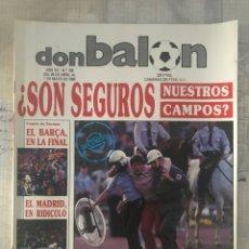 Coleccionismo deportivo: FÚTBOL DON BALÓN 706 - MILÁN VS MADRID 5-0 - RECOPA BARÇA - FIGUERES - RAYO - RAVNIC COPAS EUROPEAS. Lote 220968091