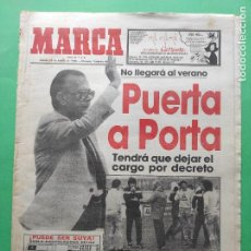 Collectionnisme sportif: DIARIO MARCA 1984 HUSILLOS MURCIA - MIGUEL MUÑOZ - CARRION SEVILLA - FINAL COPA EUROPA BASKET BARÇA. Lote 221110031