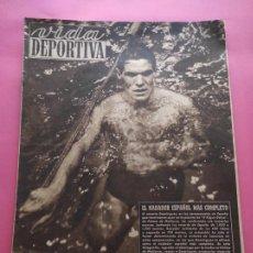 Coleccionismo deportivo: VIDA DEPORTIVA Nº 206 1949 CANARIAS CAMPEON ESPAÑA NATACION - ATLETICO DE MADRID - BOXEO ROMERO. Lote 221258150