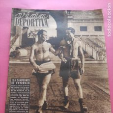 Coleccionismo deportivo: VIDA DEPORTIVA Nº 207 1949 PRETEMPORADA LIGA 49/50 GIRONA FC-OVIEDO-ATHLETIC CLUB-REAL VALLADOLID. Lote 221258603