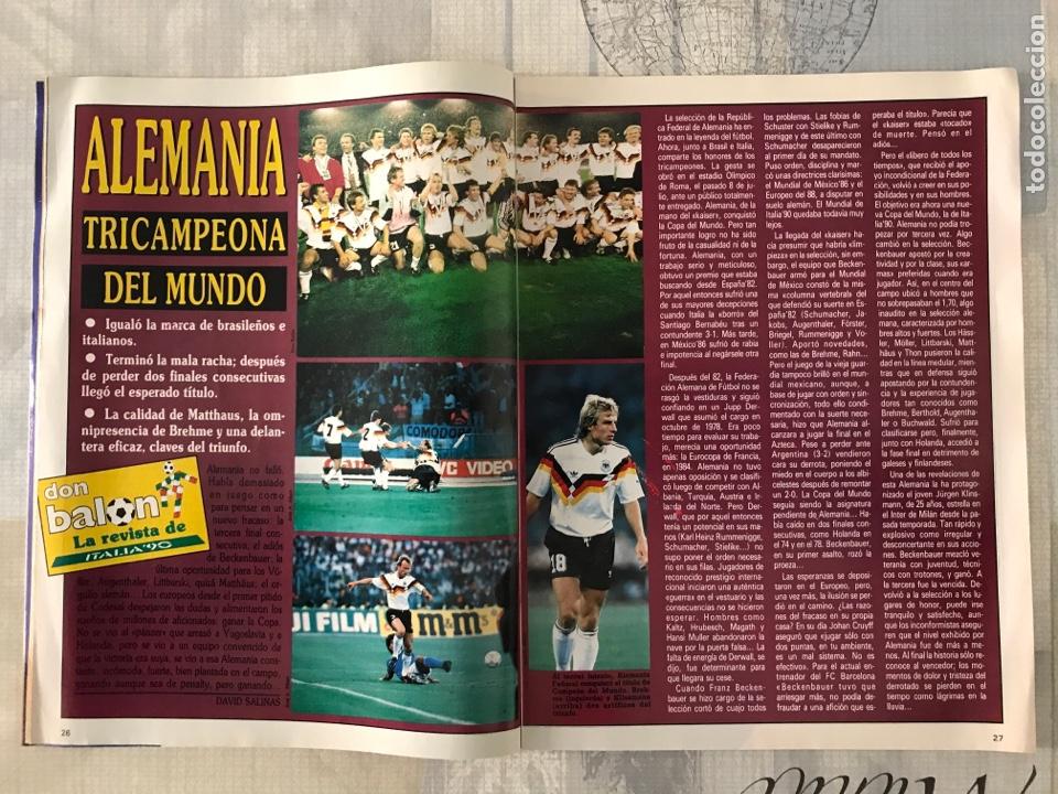 Coleccionismo deportivo: Fútbol don balón 769 - Poster Matthaus - Italia 90 - Zenga - Camerún - Tomas Atlético - Salinas - Foto 2 - 221334525